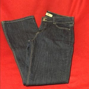 Levis 526 Womens Jeans 12M Blue Slender Boot Cut